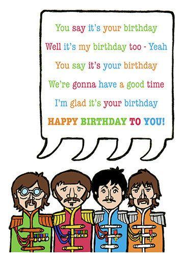Beatles Birthday Card Cross Stitch Pinterest Beatles Birthday