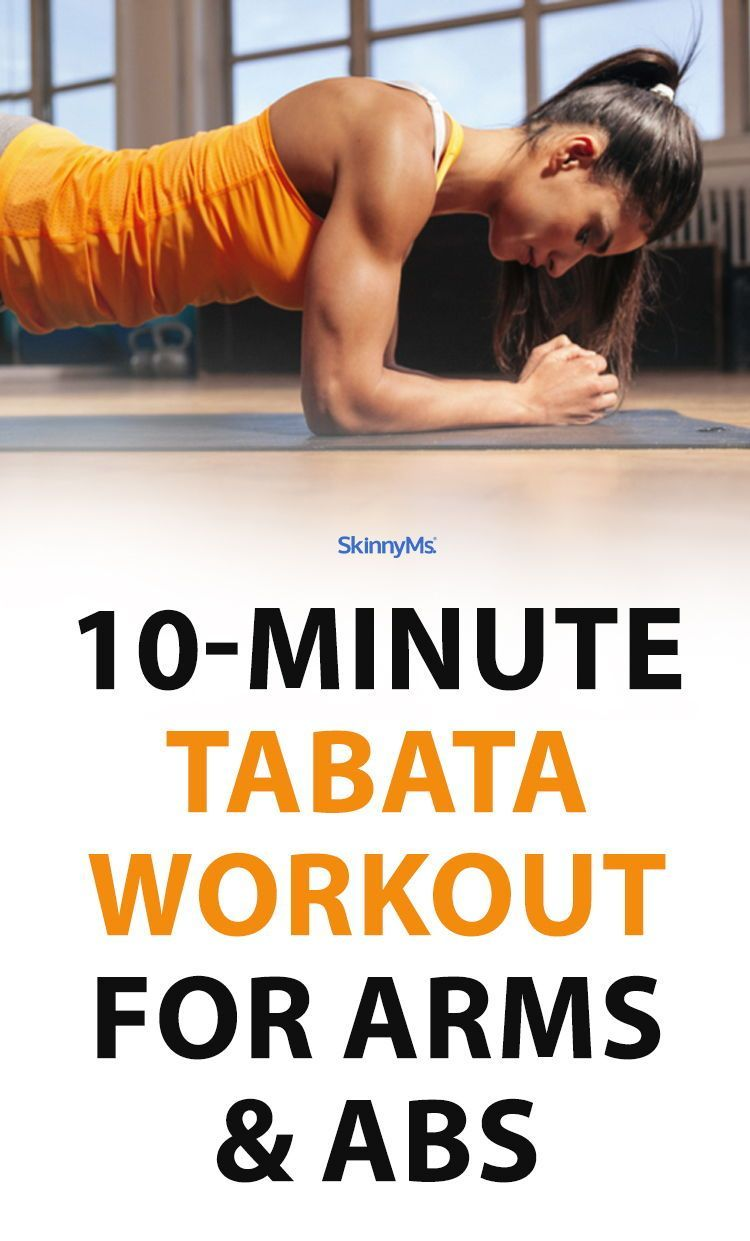10-Minute Tabata Workout for Arms and Abs