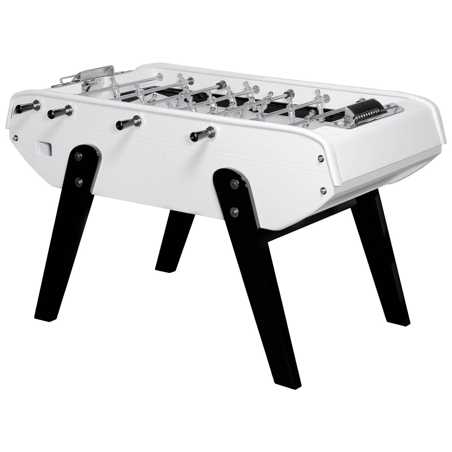 Domeau Pérès And Bonzini Foosball Table In White Leather Modern - Bonzini foosball table