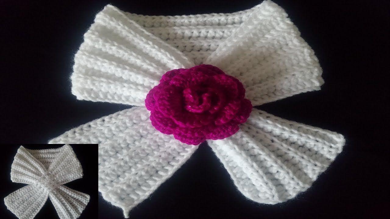 COMO HACER BUFANDA A CROCHET   Crochet   Pinterest   Como hacer ...