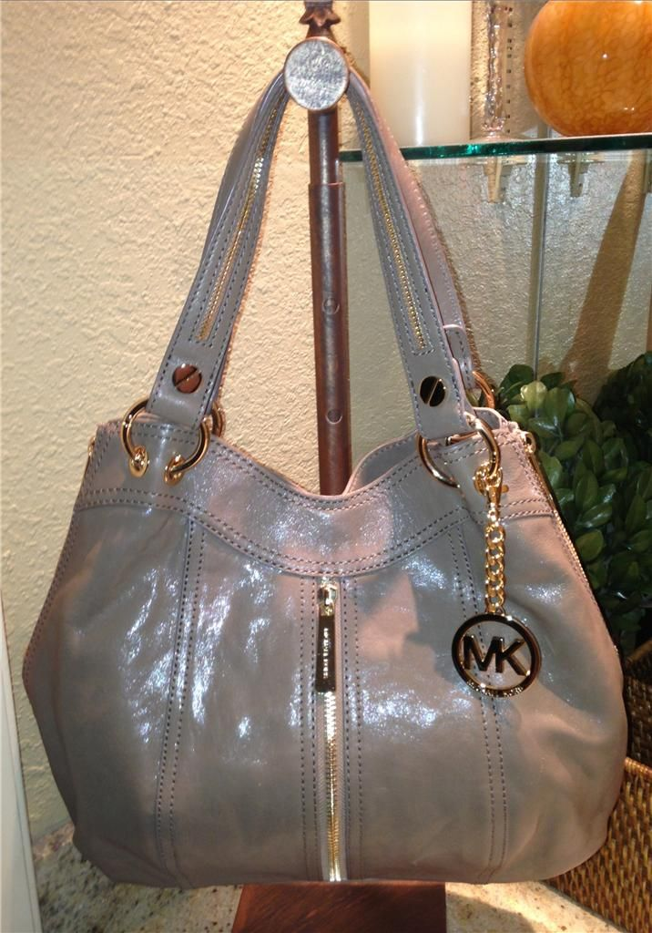 65f7b204c261 Auth $428 Michael Kors Moxley Dune Glazed Leather Shoulder Tote Bag Purse |  eBay