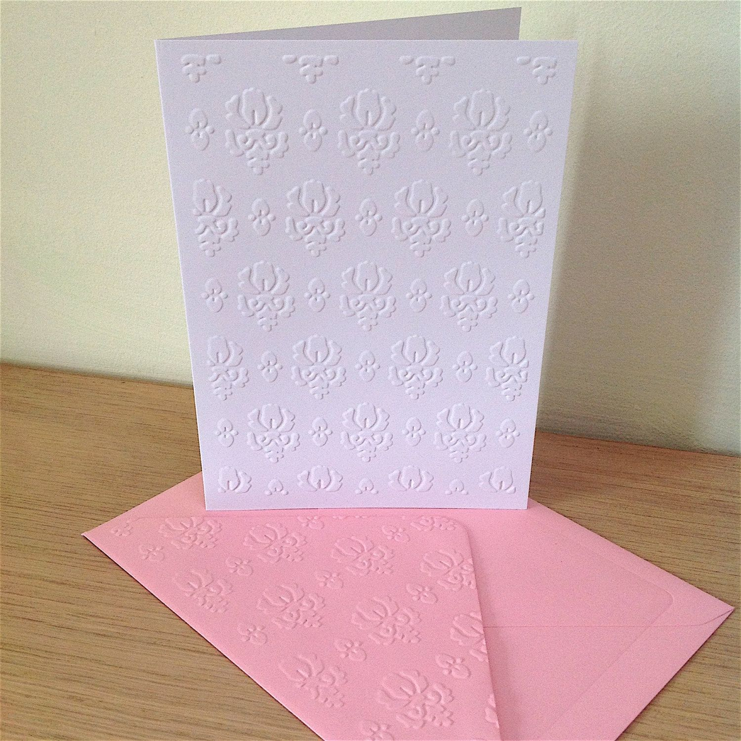 Damask note cards pack of 6 blank note cards with