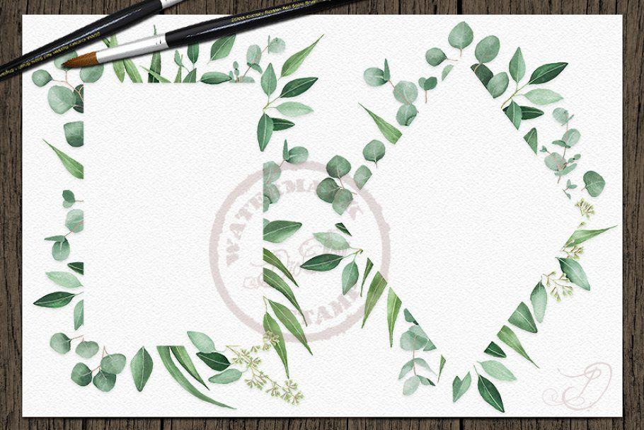 Eucalyptus Frames Clip Arts , #sponsored, #clip#art#frame#eucalyptus #Ad #clipartfreebies