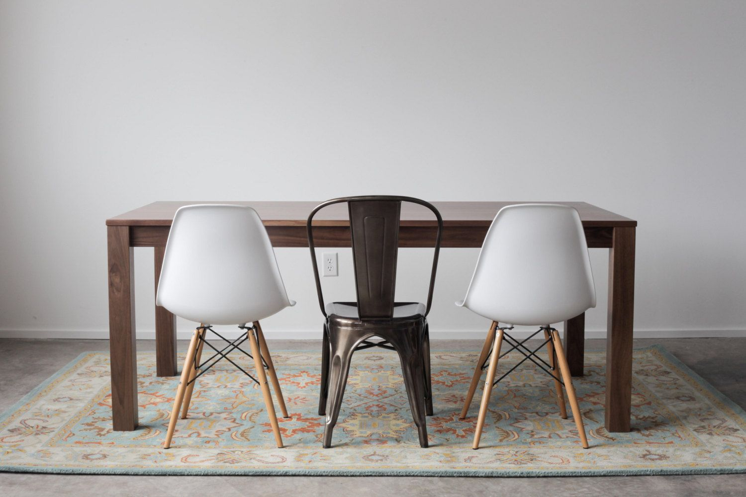 Solid Walnut Parsons Dining Table Customizable With By Hedgehouse