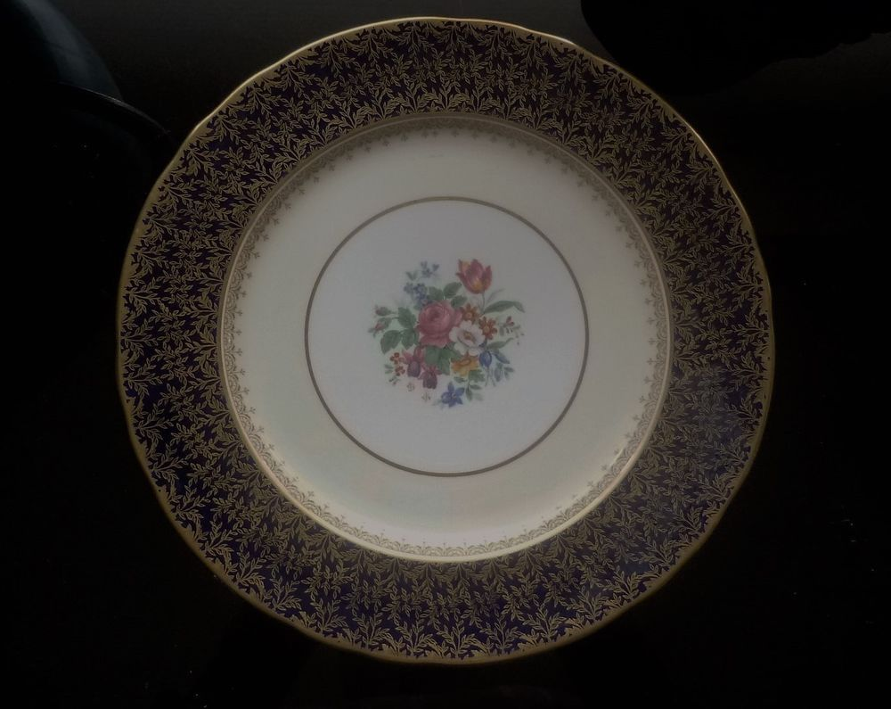 Aynsley Bone China Cardiff Blue Dinner Plate & Aynsley Bone China u201cCardiffu201d Blue Dinner Plate. | Interesting ...