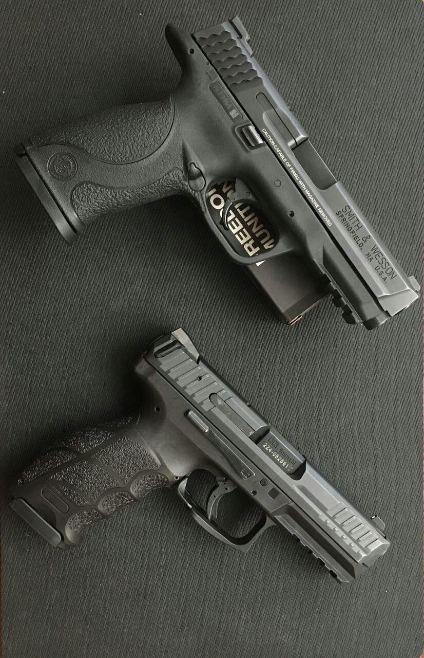 Smith & Wesson M&P cal 9mm U.S.A. HK VP9 cal 9 mm Alemania. | de ...