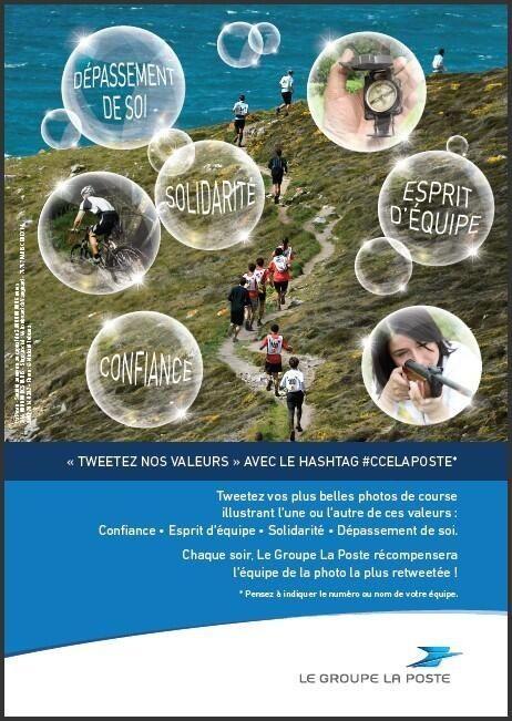 """[Edhec 2014] 26 avril. """"Tweetez nos valeurs"""" : l'affiche du concours organisé par Le Groupe La Poste © La Poste, DR."""