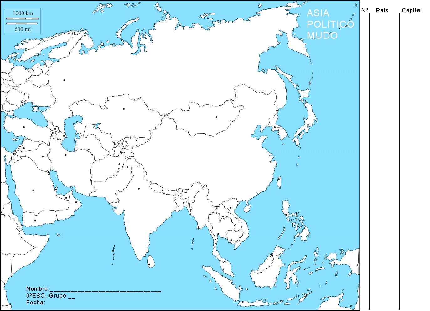 Resultado De Imagen Para Mapa Politico Asia Para Imprimir Mapa