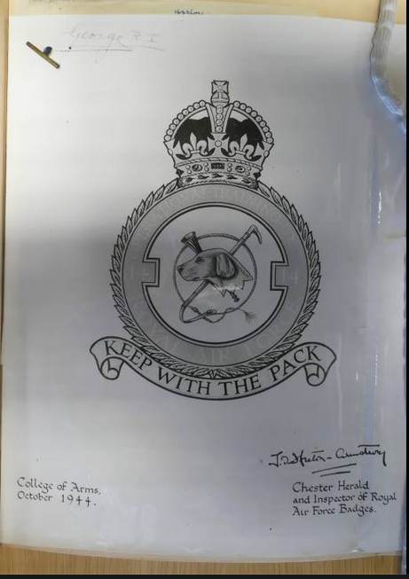 No 14 Operational Training Unit emblem (unofficial) October 1944 submitted to the College of Arms