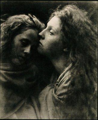 """the kiss of peace"" Julia margaret cameron"