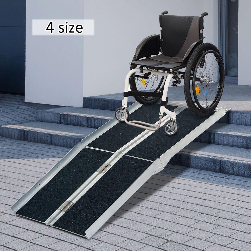 2/4/6/8/10ft Folding Aluminum Wheelchair Ramp Portable