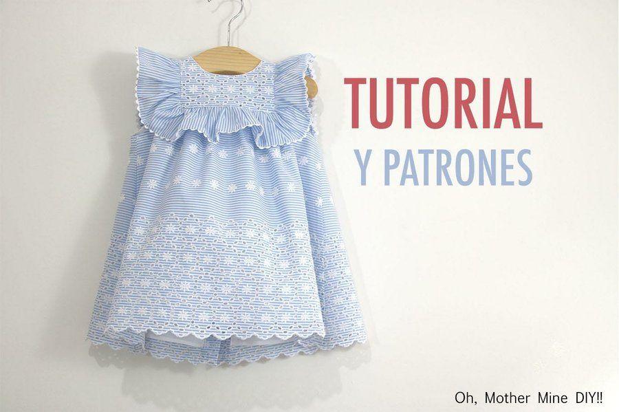 Costura vestido de rayas con bordados | Petit | Pinterest | Ropa ...