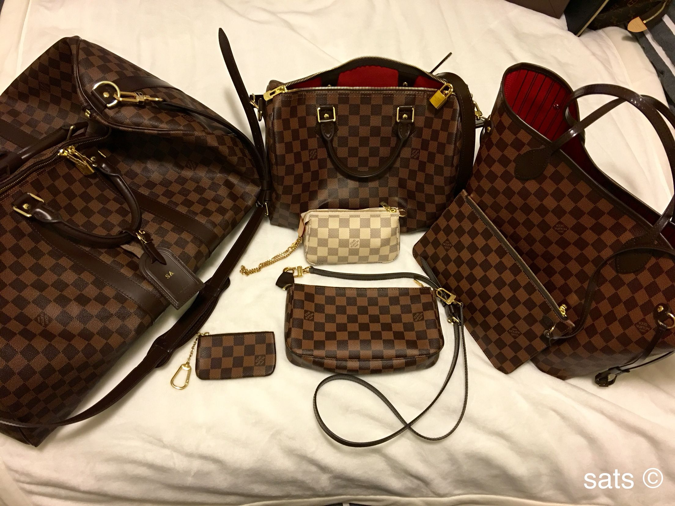 dfcc0b1bf808 Damier LV collection-keepall 55