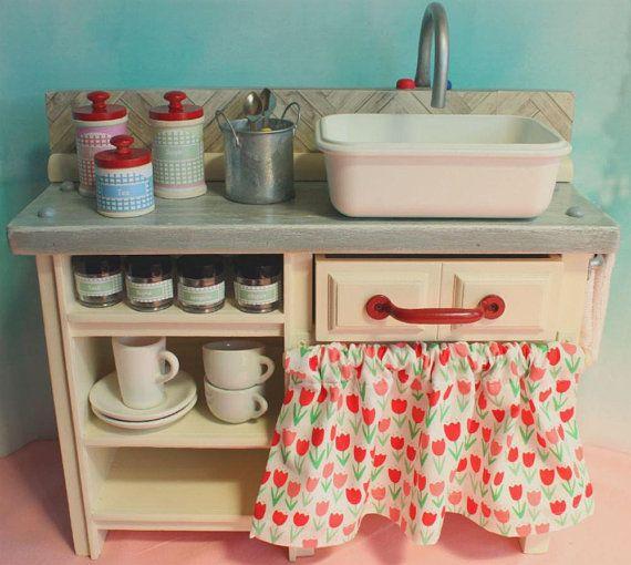 18 Inch Doll Kitchen American Girl Kitchen Play Kitchen Set Doll