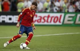 Sergio Ramos, Eurocopa2012. Semifinal: España-Portugal
