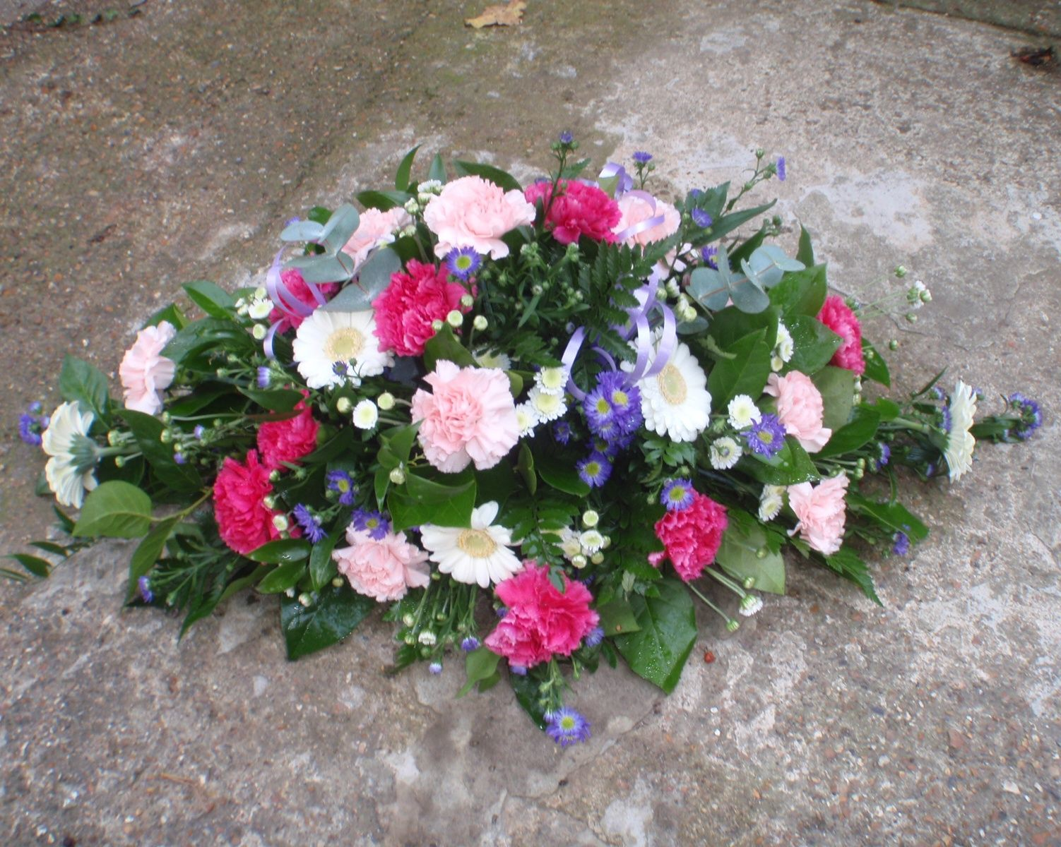 Small Double Ended With Light Pink And Cerise Carnations Flowers Feed Florist Floristry