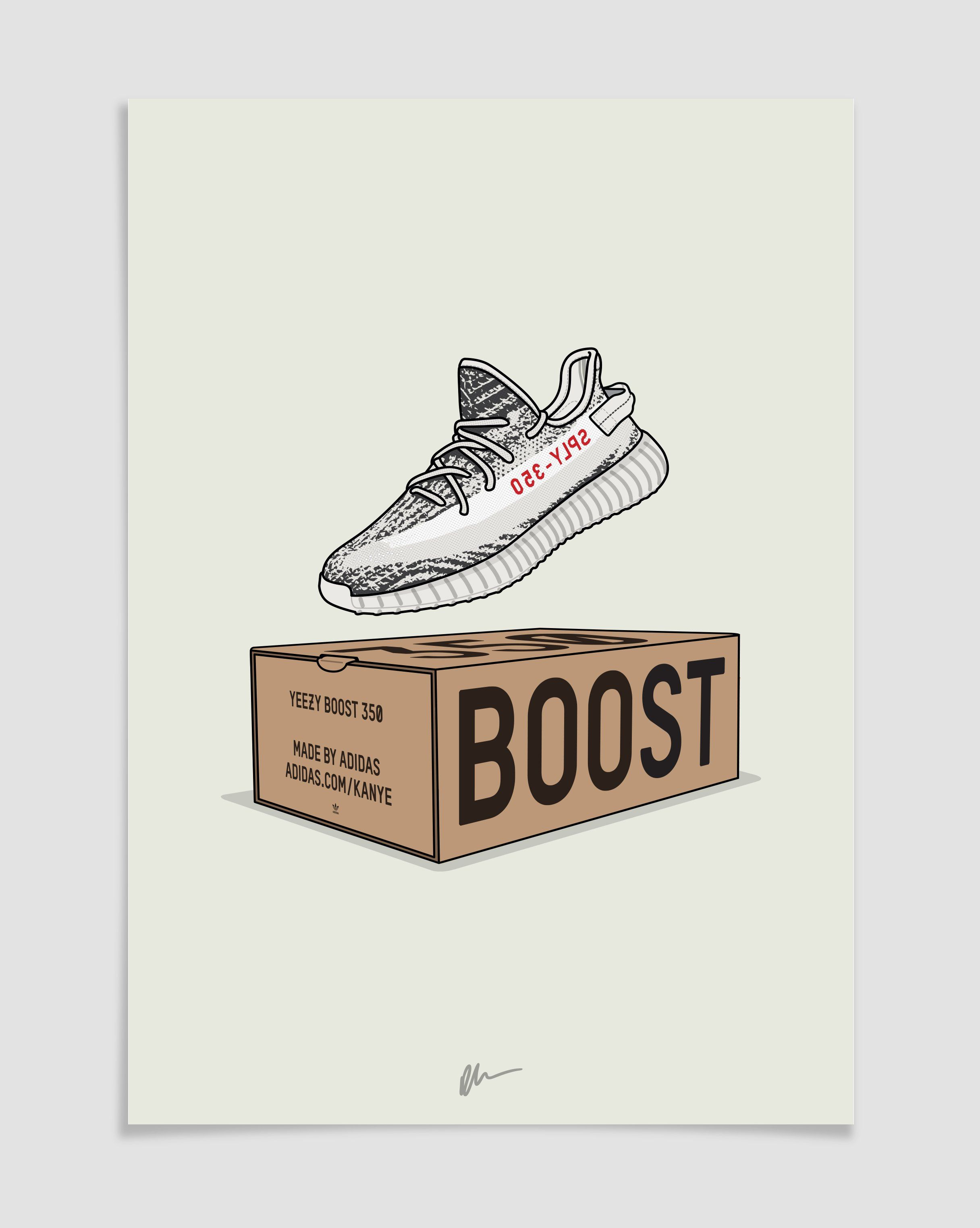 155c440d628da Originally created Yeezy 350 v2 Zebra CP9654 illustration.The ideal for the  home or office