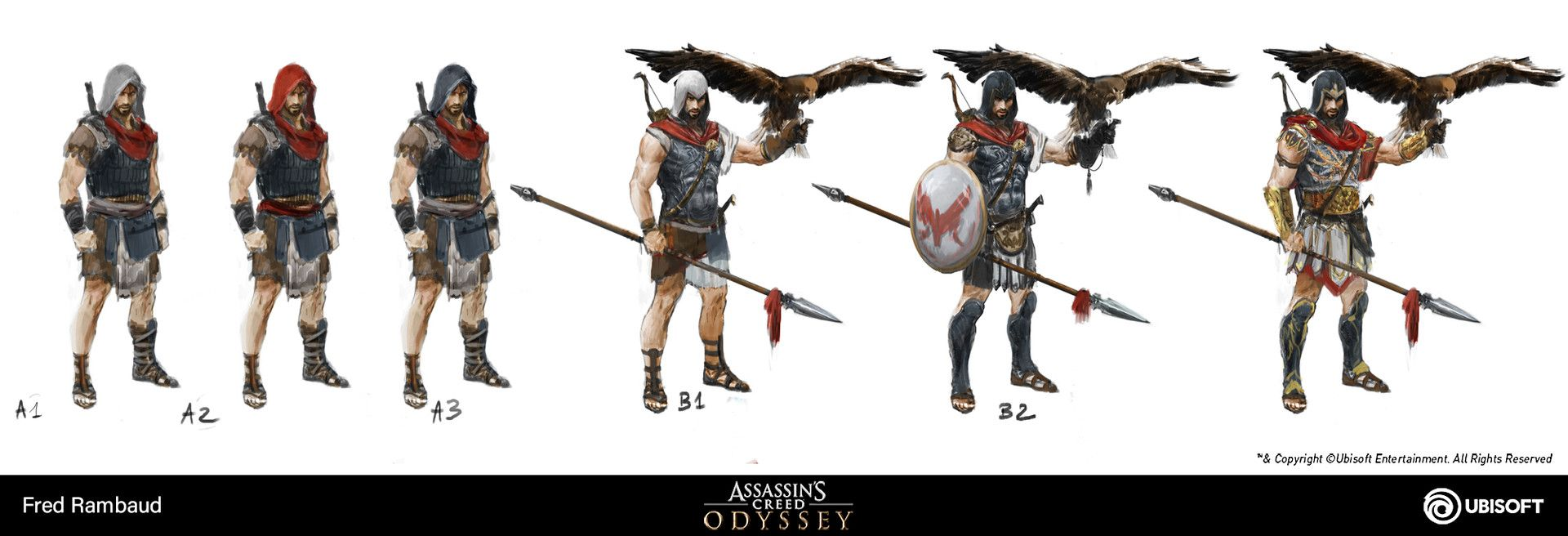 assassins creed odyssey alexios concept art