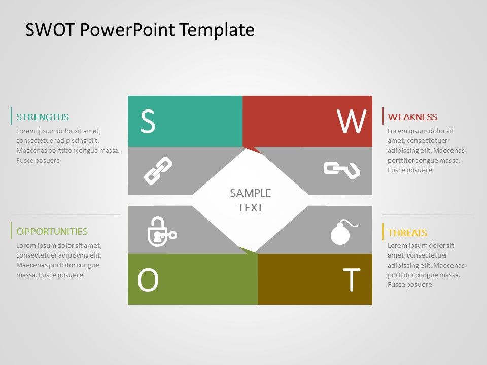 Swot Analysis Powerpoint Template 45 In 2020 Powerpoint