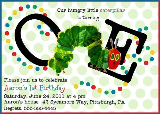 @Laura Veno...kind of cool how the caterpillar is incorporated...like the simple polka dot background too