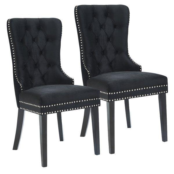 House Of Hampton Melendy Velvet Side Upholstered Dining Chair