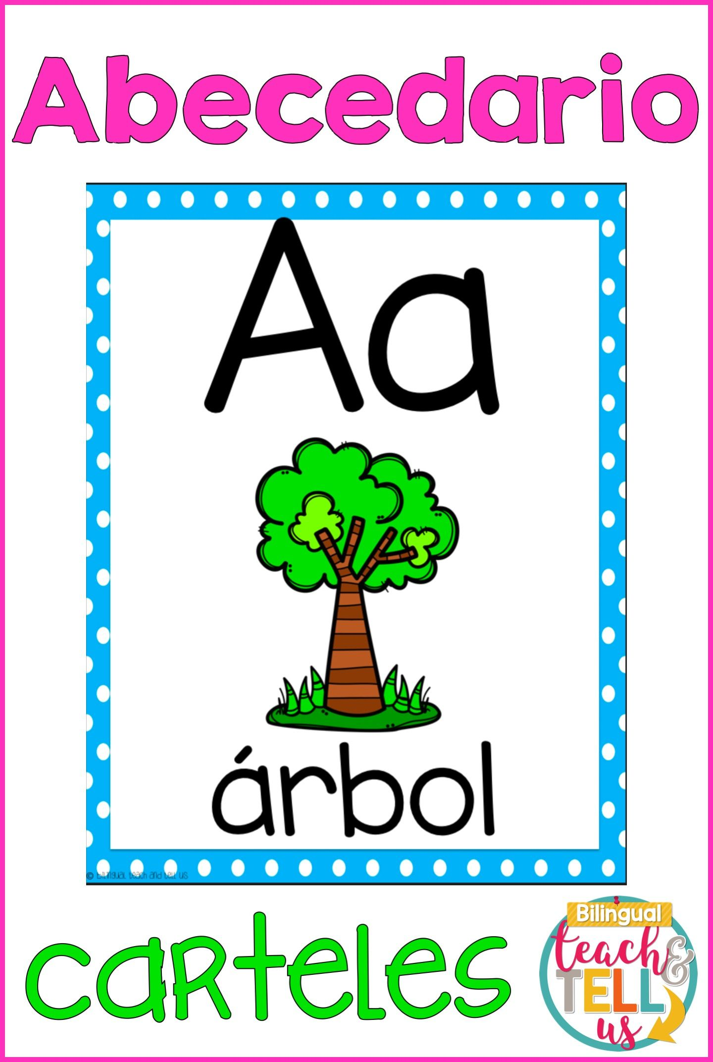 Alphabet Posters Spanish Alfabeto Letters for kids