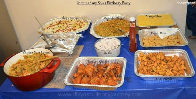 My Son S Birthday Party Menu Indian Party Menu Ideas Birthday