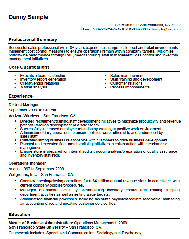 Danny Sample  Resume
