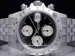 Tudor - Prince Date Chrono Time 79280P Cassa: acciaio - 40 mm Vetro: zaffiro Colore quadrante: nero Bracciale: acciaio Chiusura: fliplock Movimento: automatico