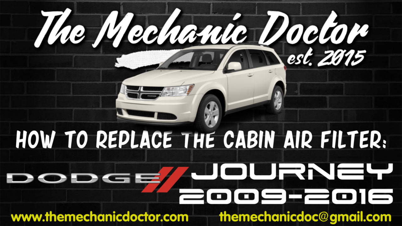 How to replace the cabin air filter Dodge Journey 2009