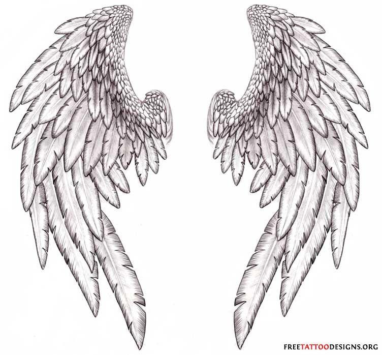 Fallen Angel Wings Tattoo | The most popular spot for angel wing ...