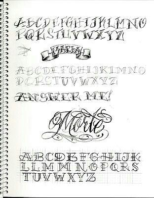 Tattoo Lettering Fonts Chicano Styles Hand Drawings Fancy Letters Graffiti Alphabet Calligraphy
