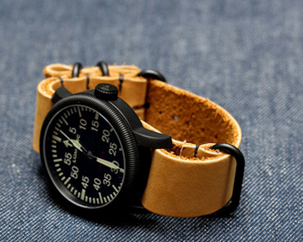 Worn&wound's line of NYC NATOs are a modern take on a classic style, made in the heart of #New #York #City. - http://thegadgetflow.com/portfolio/nubuck-watch-strap-by-worn-and-wound/