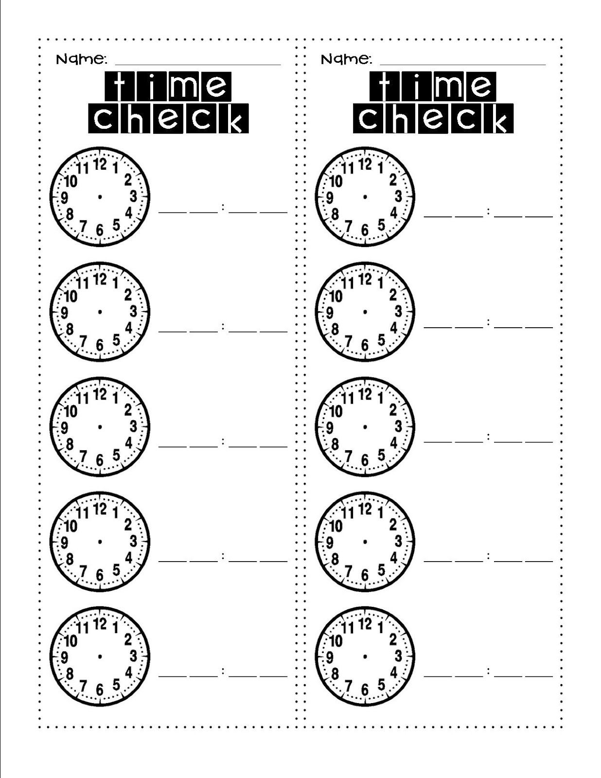 Grade One Fun With Mrs Roper Time Check Ask The Time