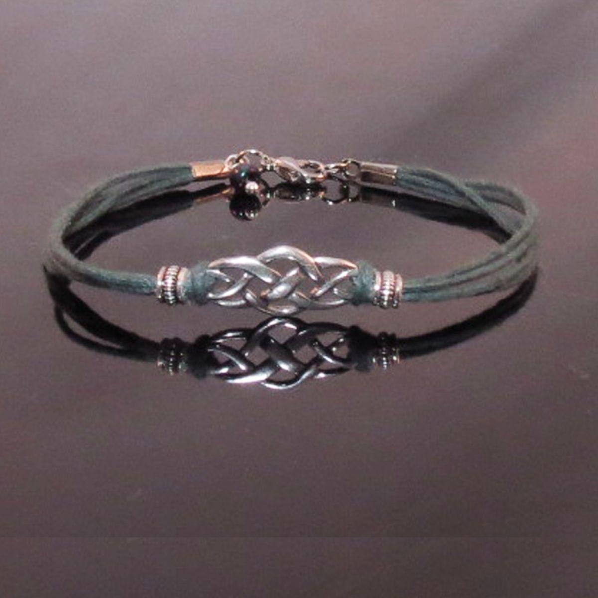 Sterling silver celtic scottish irish knot bracelet handmade