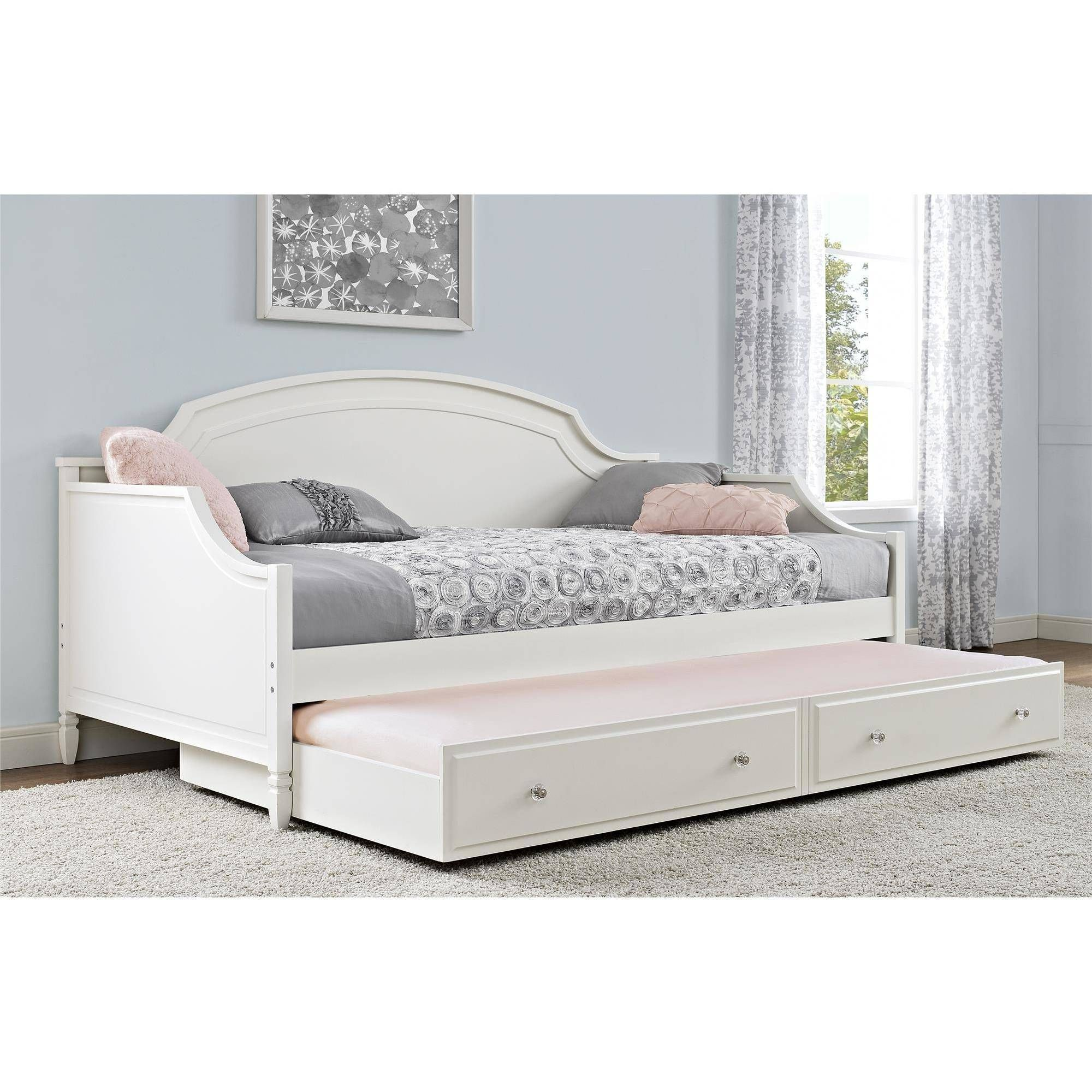White Trundle Bed Better Homes And Gardens Lillian Twin Daybed White In