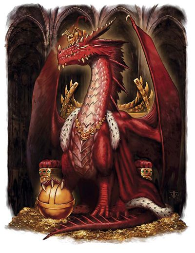 A dragon king has little need for royal guards by Franz Vohwinkel