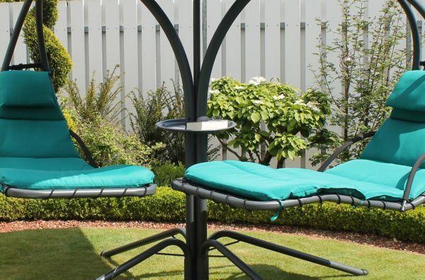 Leco Schwingliege Double Swing Gartenliege Relaxliege Sonnenliege Liegestuhl Outdoor Decor Sun Lounger Balcony Garden