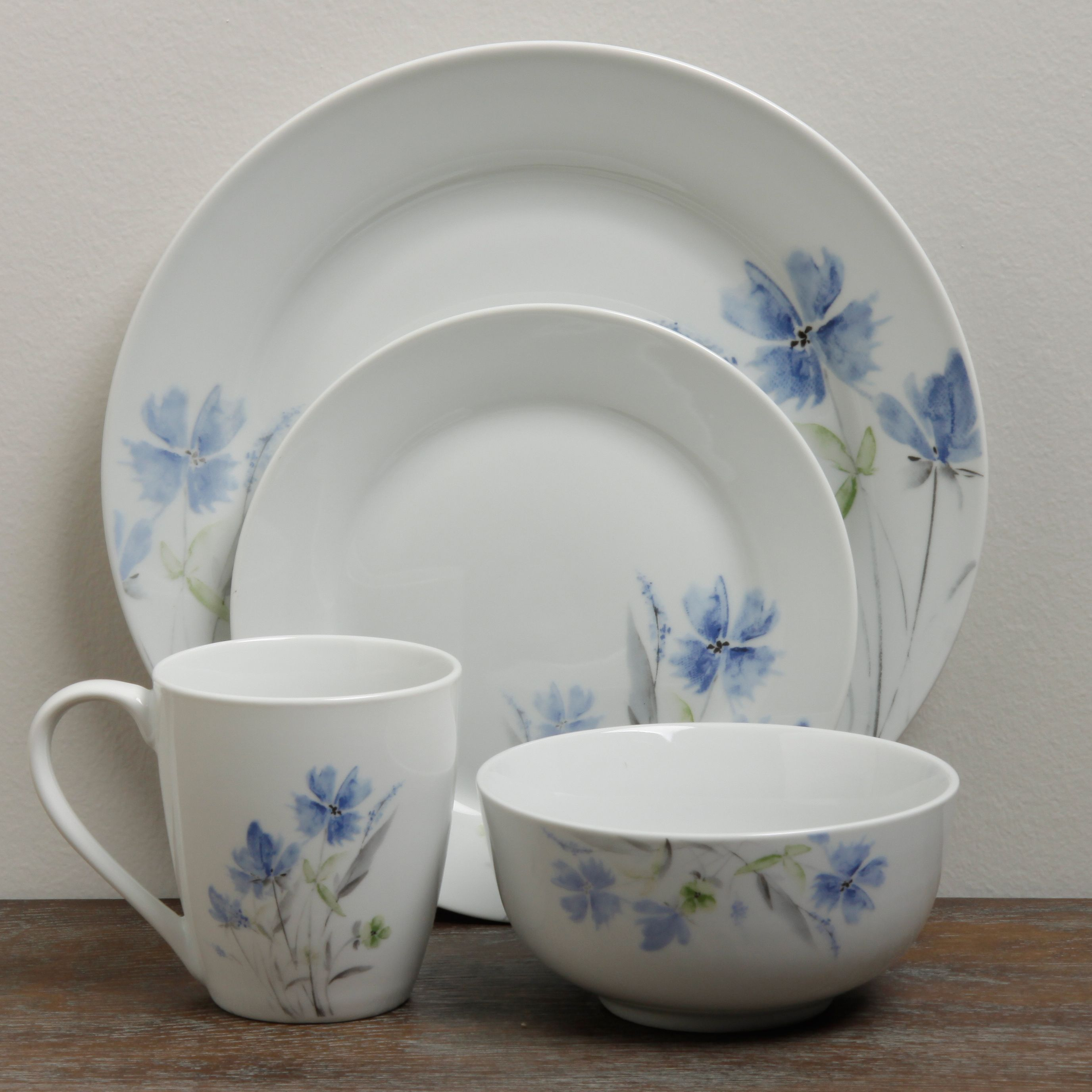 Overstock.com Online Shopping - Bedding Furniture Electronics Jewelry Clothing u0026 more. Casual DinnerwareDinnerware SetsPorcelain ... & The floral design of this elegant 16-piece Wildflower dinnerware set ...