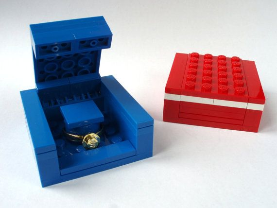 Engagement ring box Handmade with LEGO(r) Bricks Wedding
