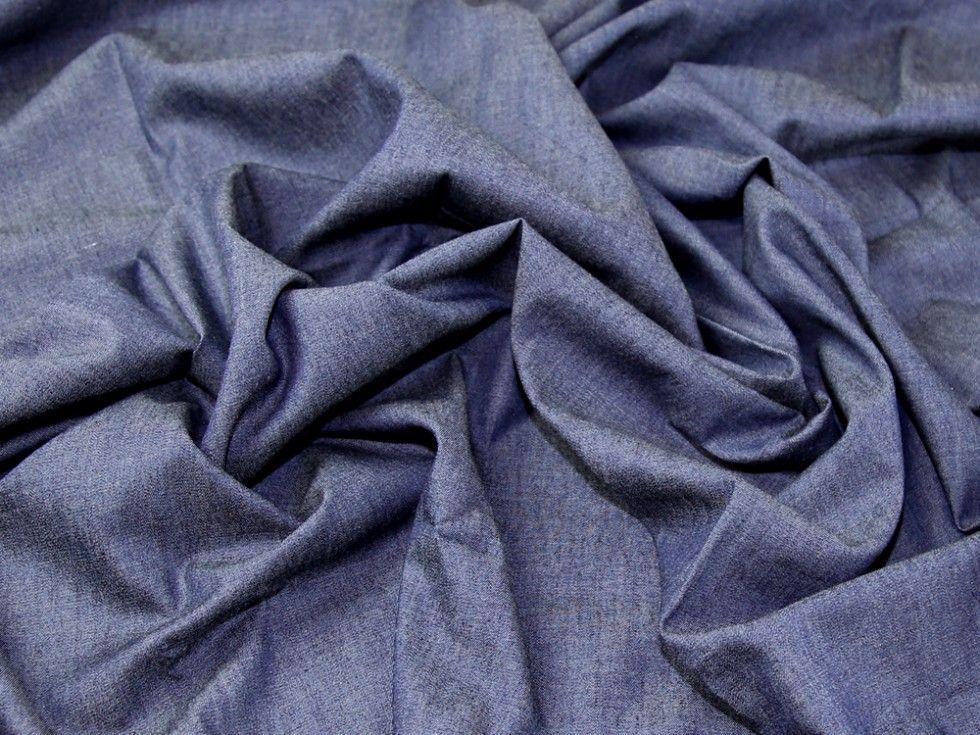 4oz CHAMBRAY 100/% Cotton Fabric Shirt /& Dress Material Light Weight Soft Denim