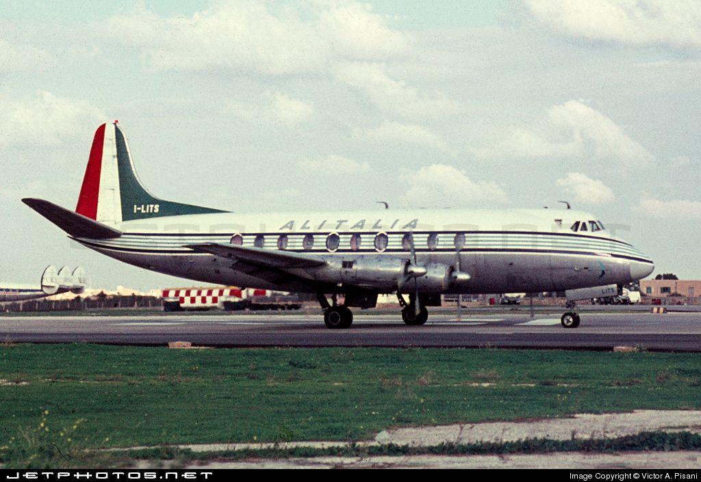 High quality photo of ILITS Alitalia Vickers Viscount 701