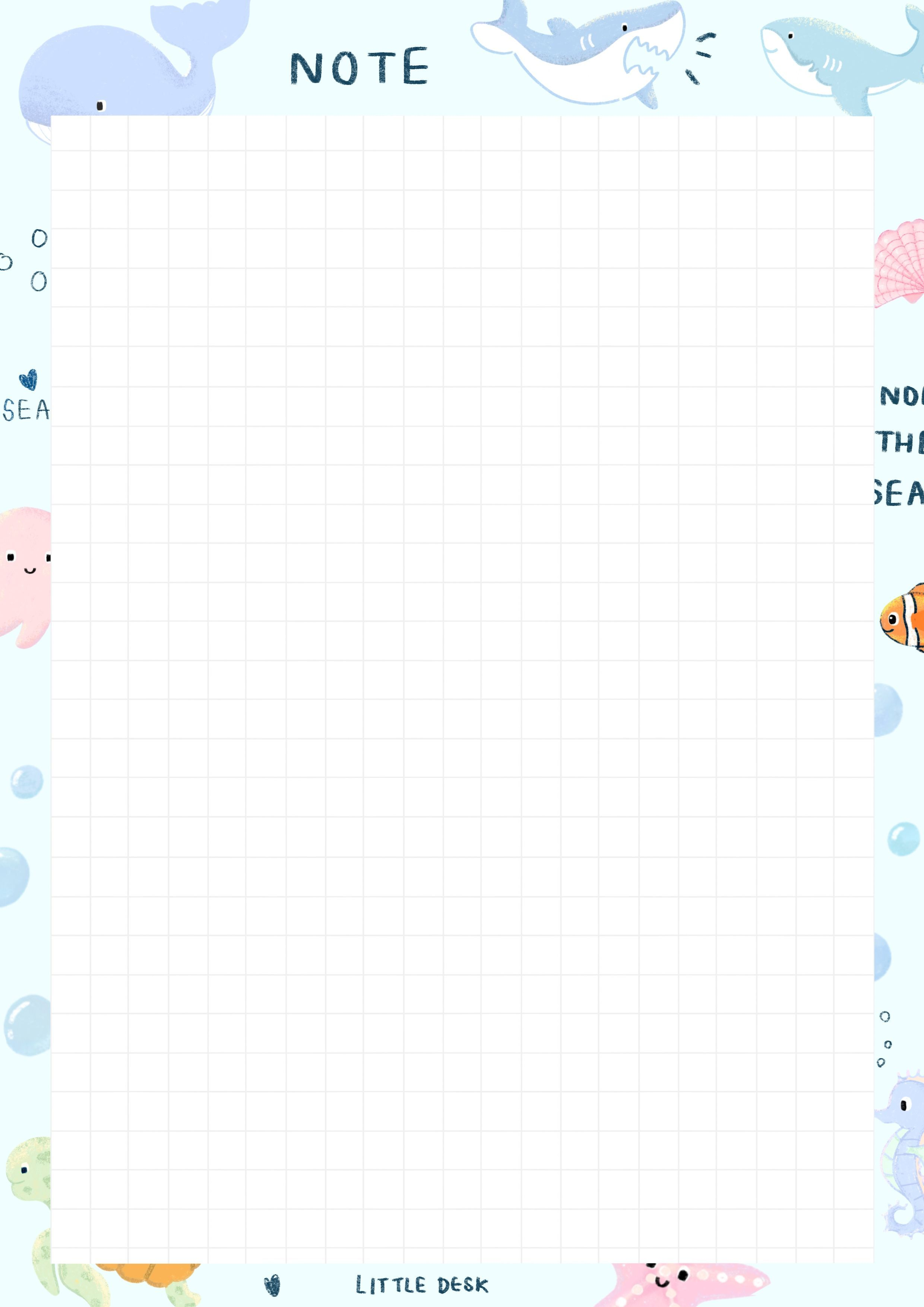 Pattern For Lecture Notes Template Planner Template Printable