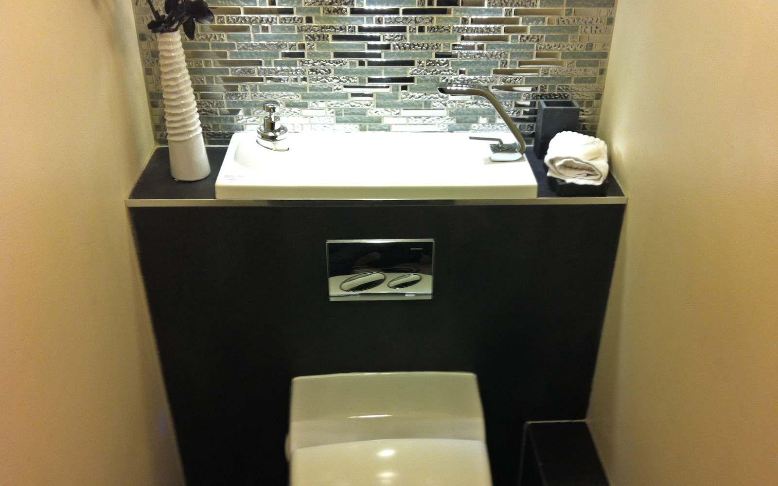 Amenagement Wc Avec Lave Mains   Toilettes   Pinterest   Wc avec ...