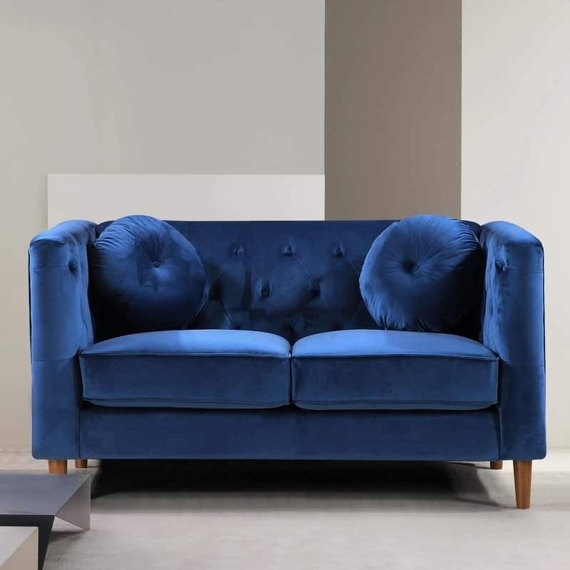 Kitts Classic Traditional Chesterfield Upholstered Loveseat ...