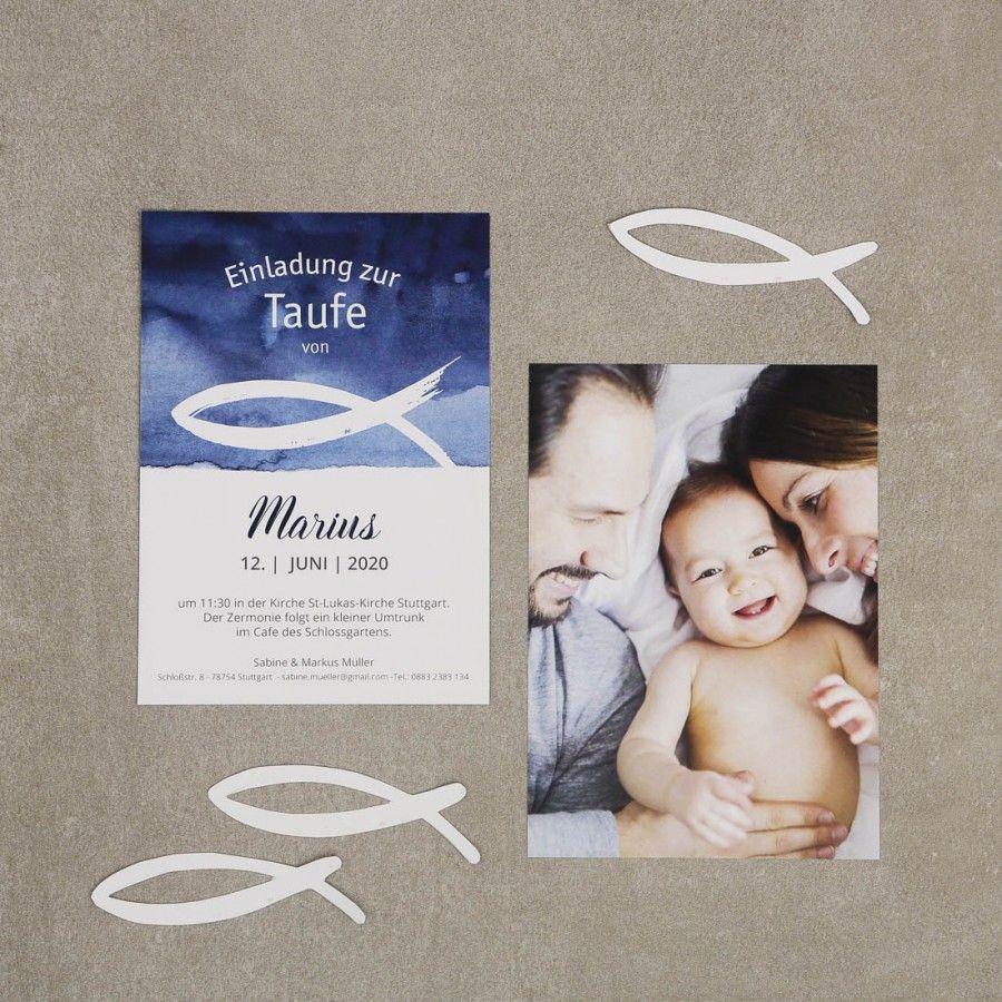 Ozean   Taufe Einladung   Postkarte #einladung #taufe #feier #papeterie  #auqarell