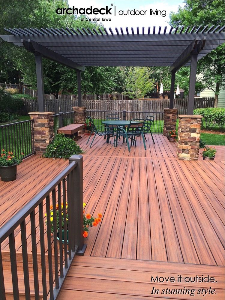 Trex Transcend Tiki Torch Deck with Painted