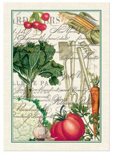 From My Garden Vegetables Tools Cotton Kitchen Towel By Michel Design Works  | EBay