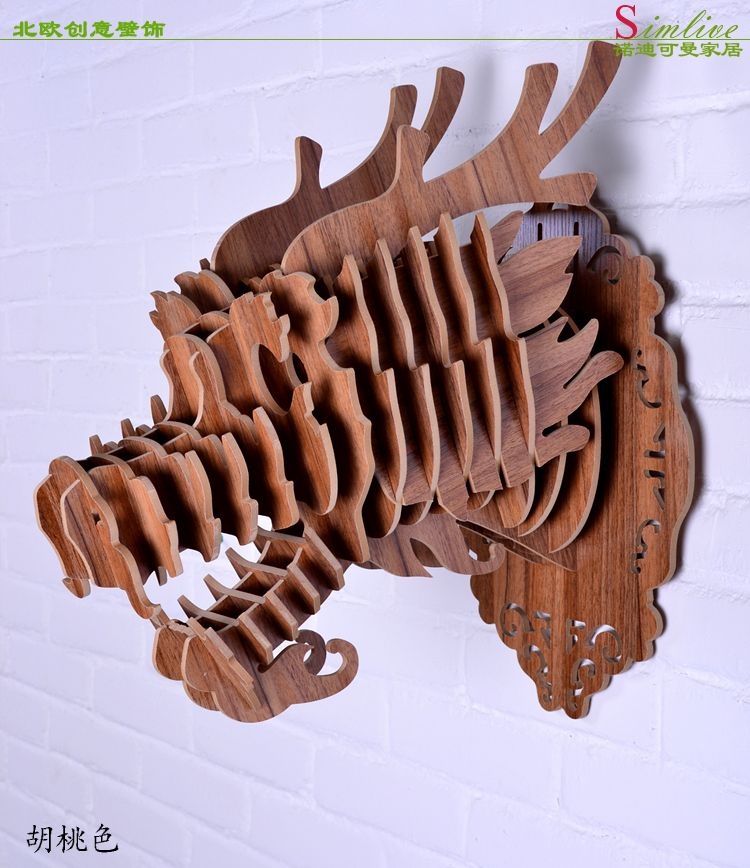 DIY wooden Dragon head for wall decoration,Chinese dragon,wood