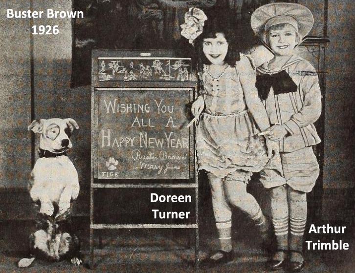 Cast of Buster Brown Arthur Trimble & Doreen Turner New